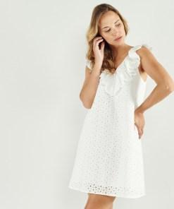 Robe courte blanche Artlove