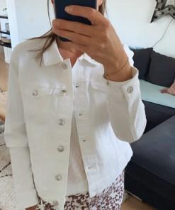 Veste en jean blanc Only.