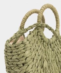 Petit sac en papier pour l'été couleur vert petit prix.