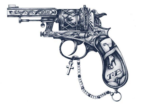 illustration de pistolet par shane