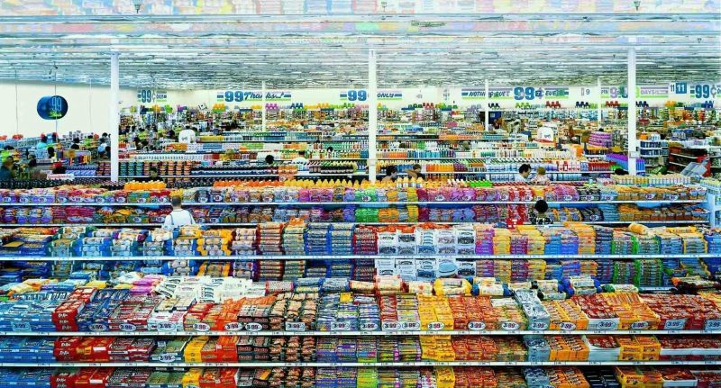 photo d'Andreas Gursky supermarché