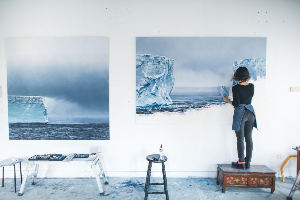 Zaria Forman antartica