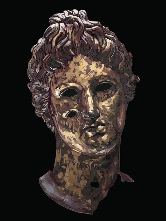 Benevolent Gods, des portraits de dieux représentant chacun un état d'esprit antique
