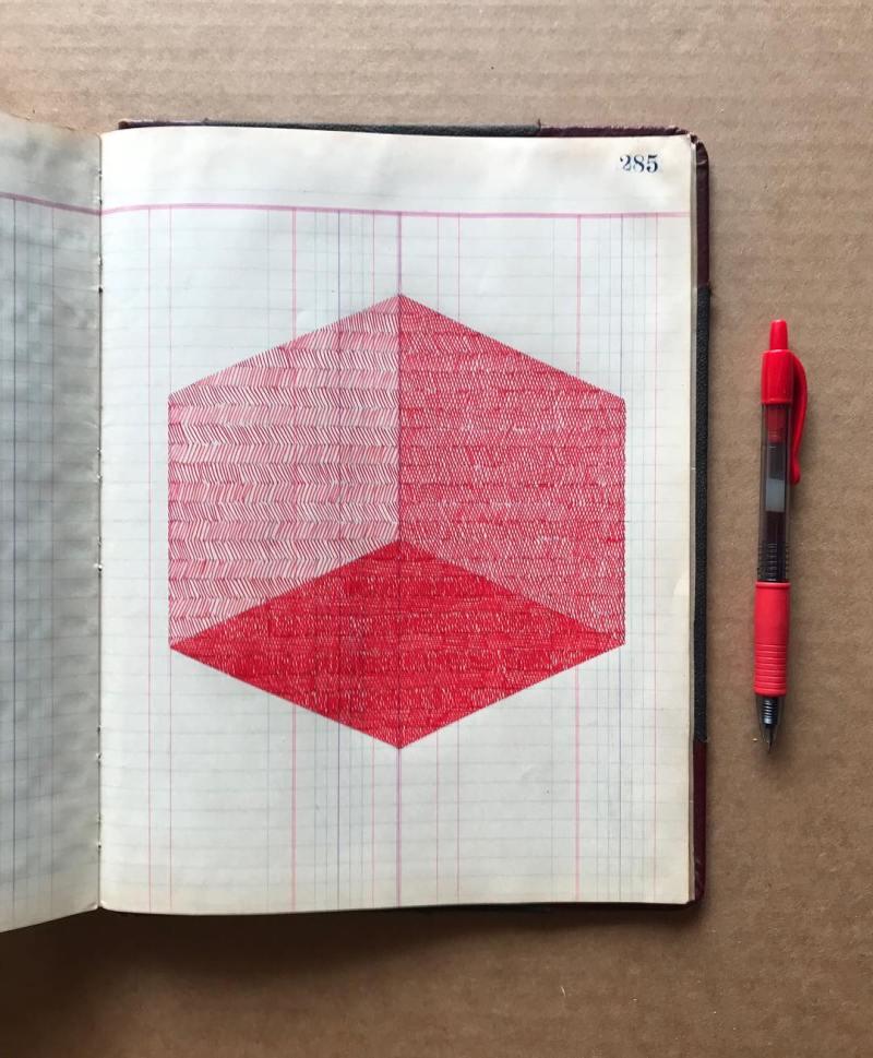 cube rouge illustration sur cube rouge