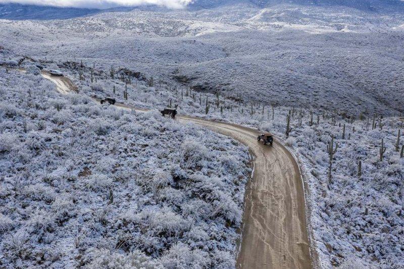 des 4x4 en Arizona sous la neige