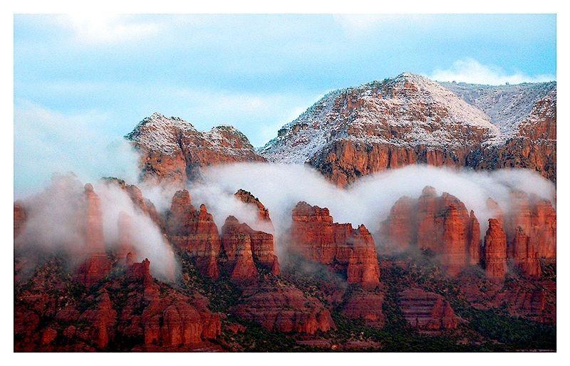 photo neige en arizona