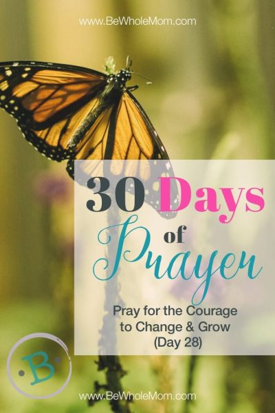 30 Days of Prayer: Pray for the Courage to Change & Grow (Day 28)