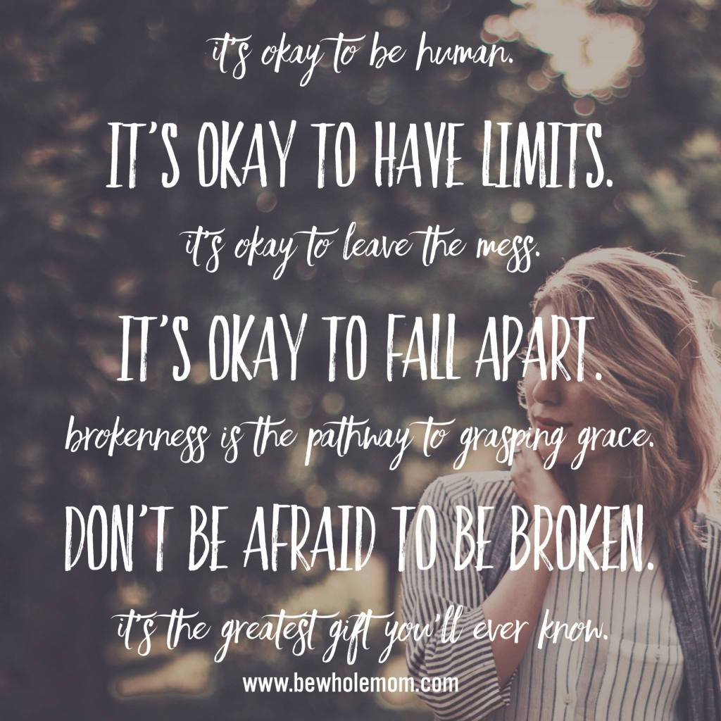 it's okay to fall apart quote