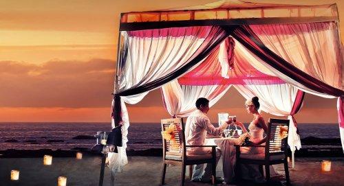 ディナー、バリ、ビーチ、ロマンチックディナー、マジョリディナー