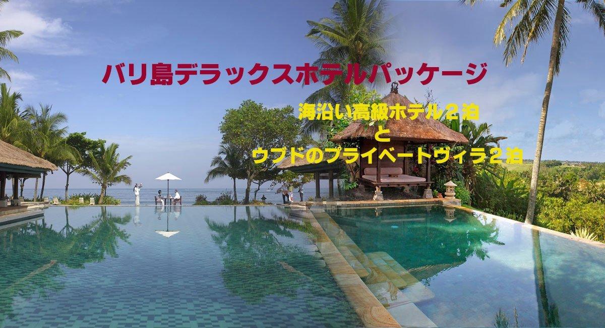 ホテル デラックス パッケージ|海 沿い ホテル と ウブド ヴィラ を 満喫