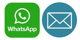 News & Infos per Whatsapp u E-Mail