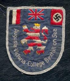 """An original blazer badge from Bexhill's pre-war """"Nazi Girls' School"""""""