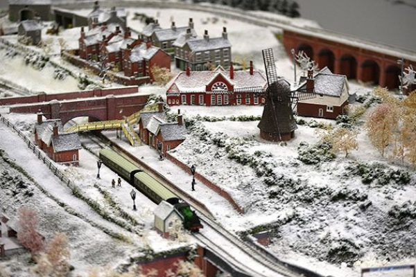 view of the model railway