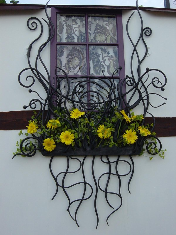 Wrought Iron Window Box Railing
