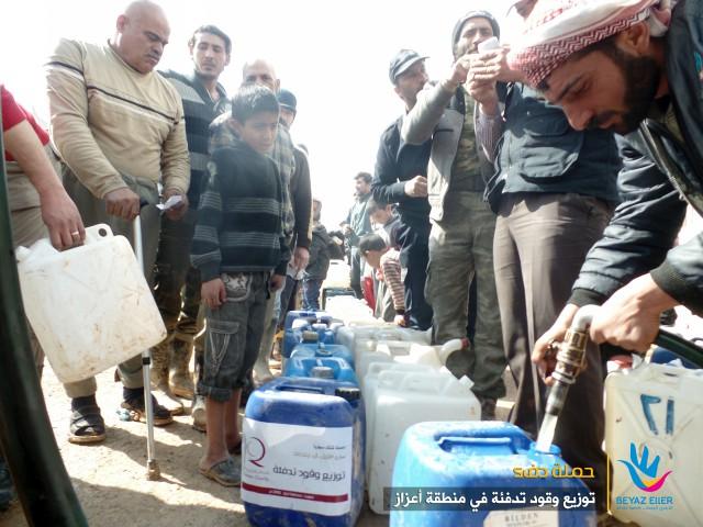 حملة دفء - توزيع وقود