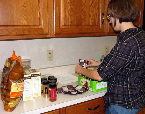 Filling jars for the Texas 2 step soup mix.