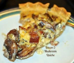 Mushroom and Bacon Quiche