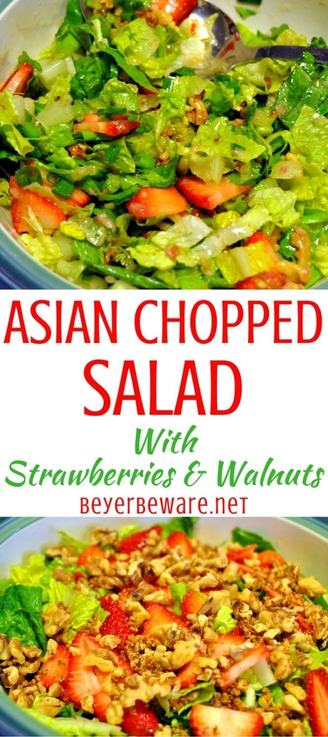 Asian Chopped Salad with Berries