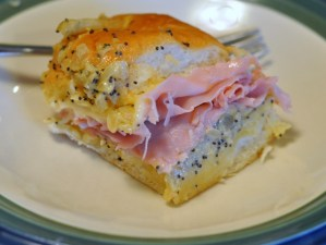 Ham Sandwich on Hawaiian Sweet Roll