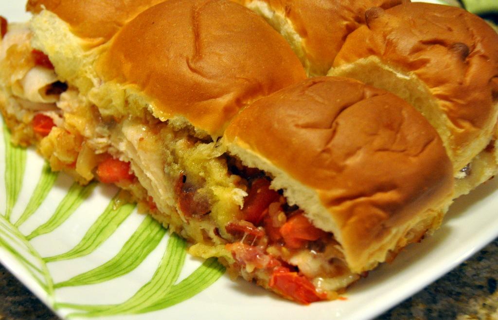 Mini Chicken Sandwiches on Hawaiian Sweet Rolls