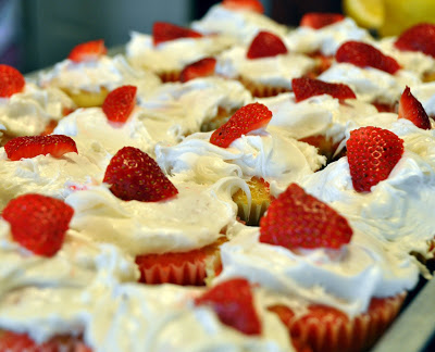 Strawberry Poke Cake Cupcakes