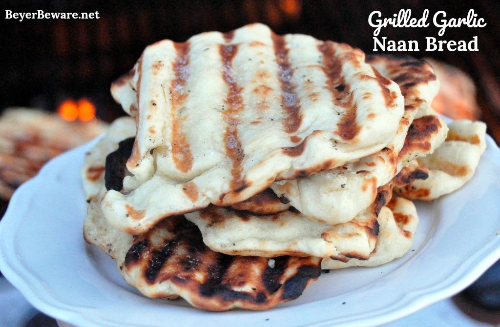 Grilled Garlic Naan Bread