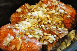 frozen meat in the crock pot