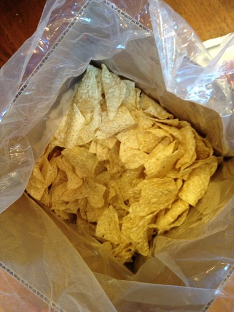 Thin tortilla chips