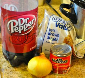 Crock Pot Dr. Pepper Pulled Pork Ingredients