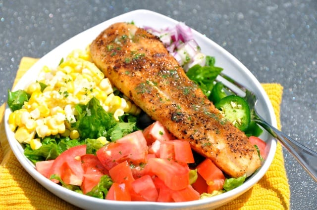Blackened Fish Mexican Salad