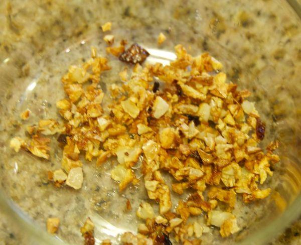 toasted minced garlic