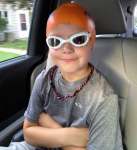 boy in swim cap