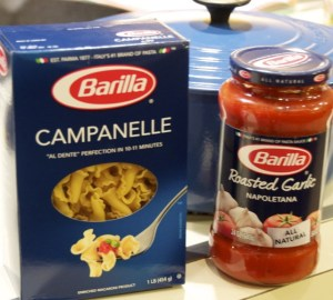 Campanelle Pasta and Roasted Garlic Tomato Sauce