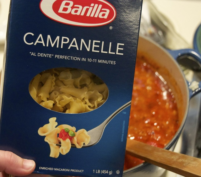 Campanelle pasta for soup