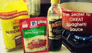 secret spaghetti sauce ingredients
