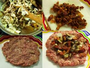 stuffed burgers process