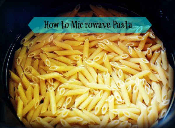 how to microwave pasta