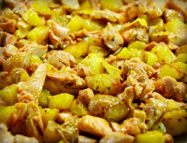 Buffalo Chicken and Potatoes