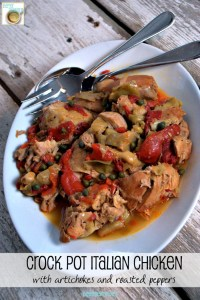 Crock Pot Italian Chicken might appear to be fancy, but this recipe is super easy and only needs 6 ingredients.