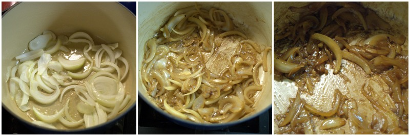 Caramelizing onions is an easy three step process.