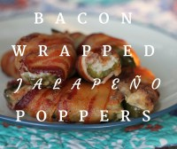 These bacon wrapped jalapeno poppers have 5 ingredients and sure to be a hit at your next tailgate or party.