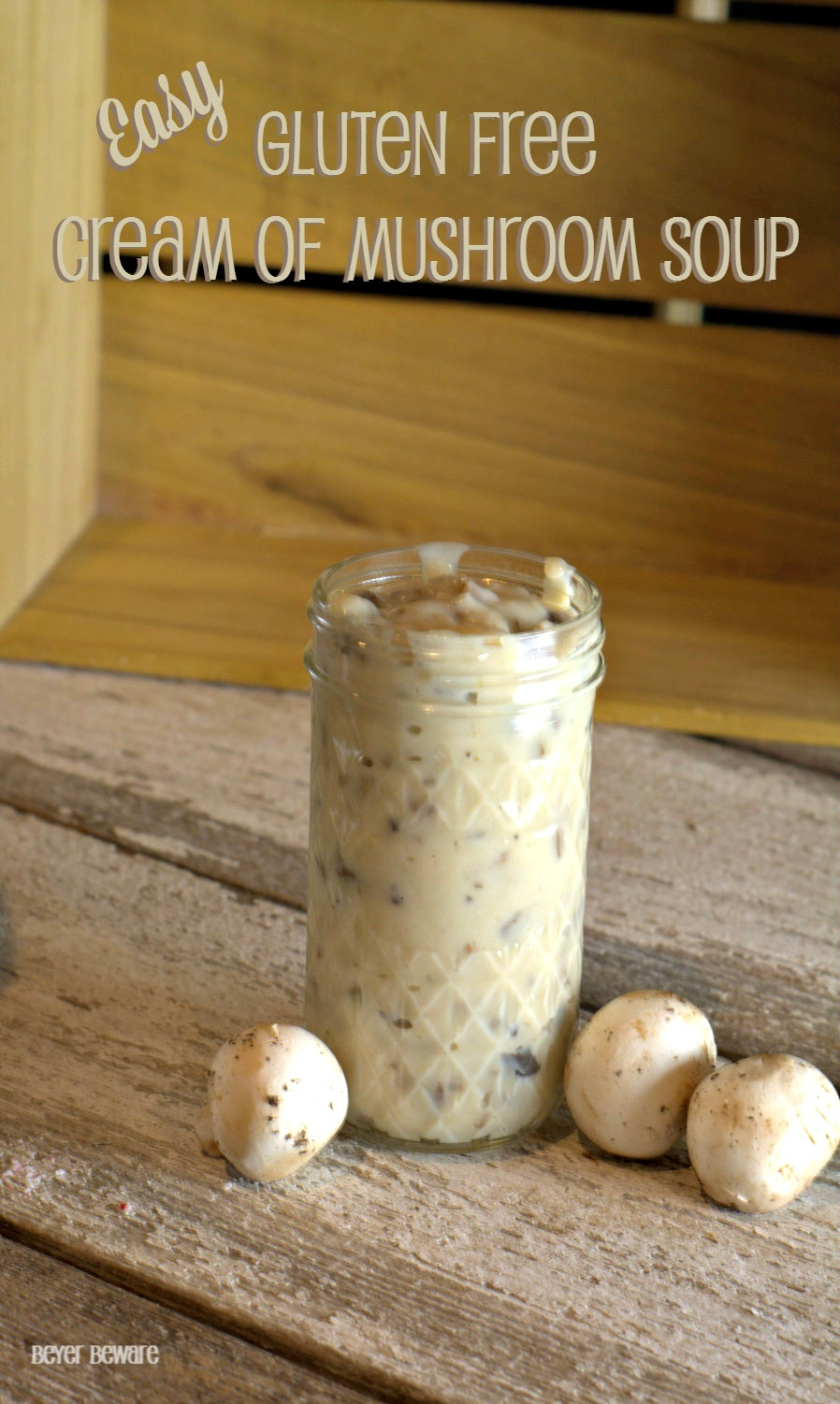 This easy Gluten Free Cream of Mushroom Soup recipe is now a staple in my cooking for any recipe that calls for cream of mushroom soup.