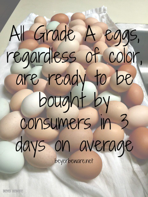 How many days does it take for eggs to get to the store?