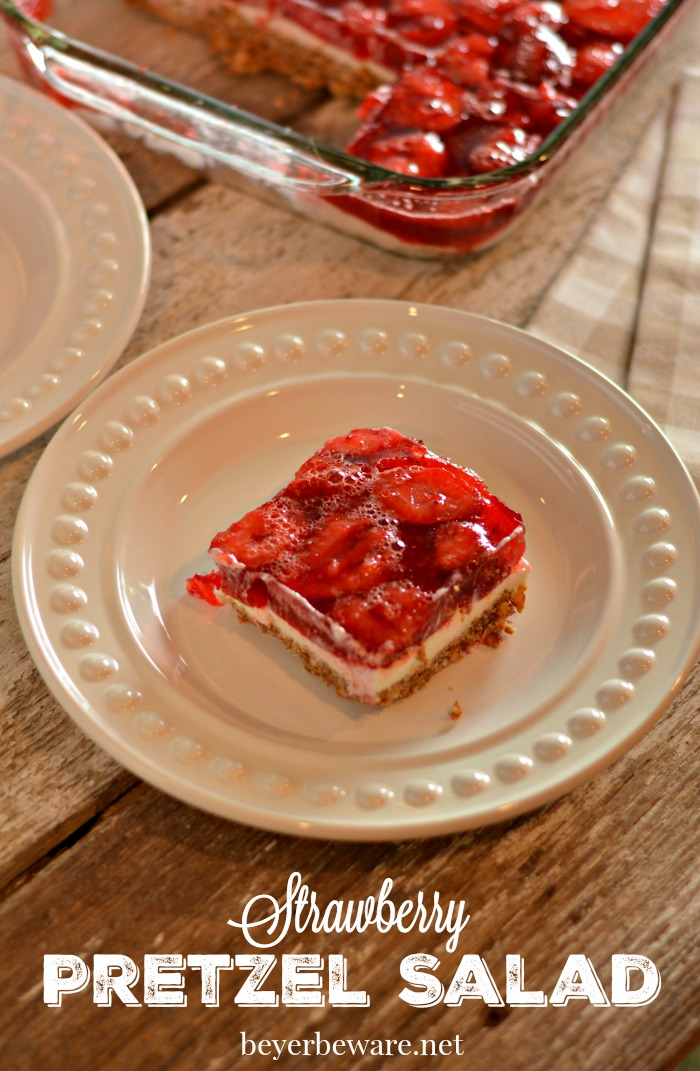 Whether it is a salad or a dessert, this strawberry pretzel salad recipe is always a hit.