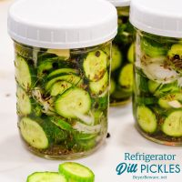 Refrigerator pickles ready for the fridge