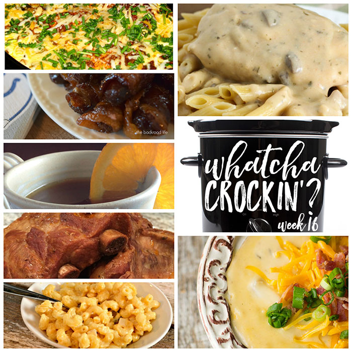 This week's Whatcha Crockin' crock pot recipes include Slow Cooker Fiesta Chicken and Rice, Sweet and Spicy Bacon Wrapped Smokies, Crock Pot Potato Soup and much more!