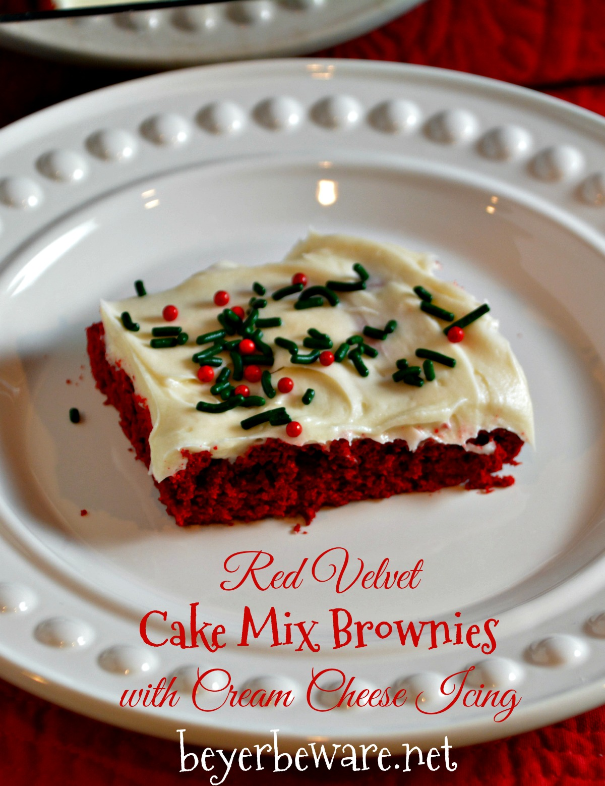 If you love red velvet cake and brownies, this red velvet cake mix brownies recipe a collision of favorites topped with an easy cream cheese icing.