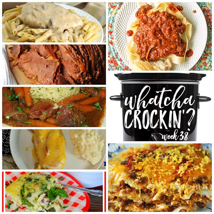 This week's Whatcha Crockin' crock pot recipes include Crock Pot Spaghetti Sauce, Crock Pot Taco Lasagna, Crock Pot Creamy Herbed Chicken, Crock Pot Bacon Ranch Chicken, Crock Pot Brunch Frittata, Slow Cooker Cinnamon Honey Ham, Slow Cooked Beef Stew and much more!