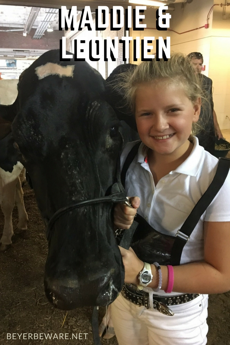 Maddie and Leontien at the Indiana State Fair