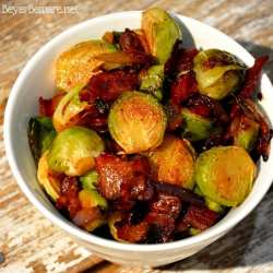 Sautéed Brussels Sprouts with bacon and onions are the way to eat Brussels Sprouts. Caramelized red onions with crispy fried bacon make these Brussels Sprouts full of rich flavor and melt in your mouth.